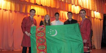 Turkmen students at the celebration of Day of the Faculty